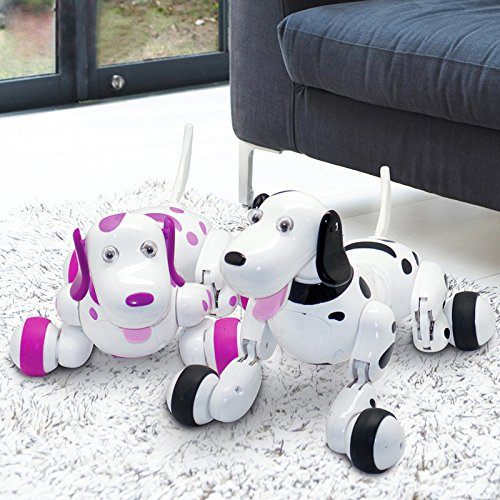 SainSmart Jr. Elektro RC Intelligenter Hund Wireless Interactive Welpe Kinderspielzeug Tanzen Roboter Haustier Schwarz.