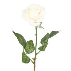Seidenrose 43,2 cm, natürlich aussehende, künstliche Blumen – Louis Garten Weiß