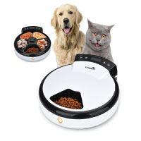 TOPHGDIY Premium Automatisierte Futterspender , Haustier Futterautomat für Katzen und kleine bis mittele Hunde