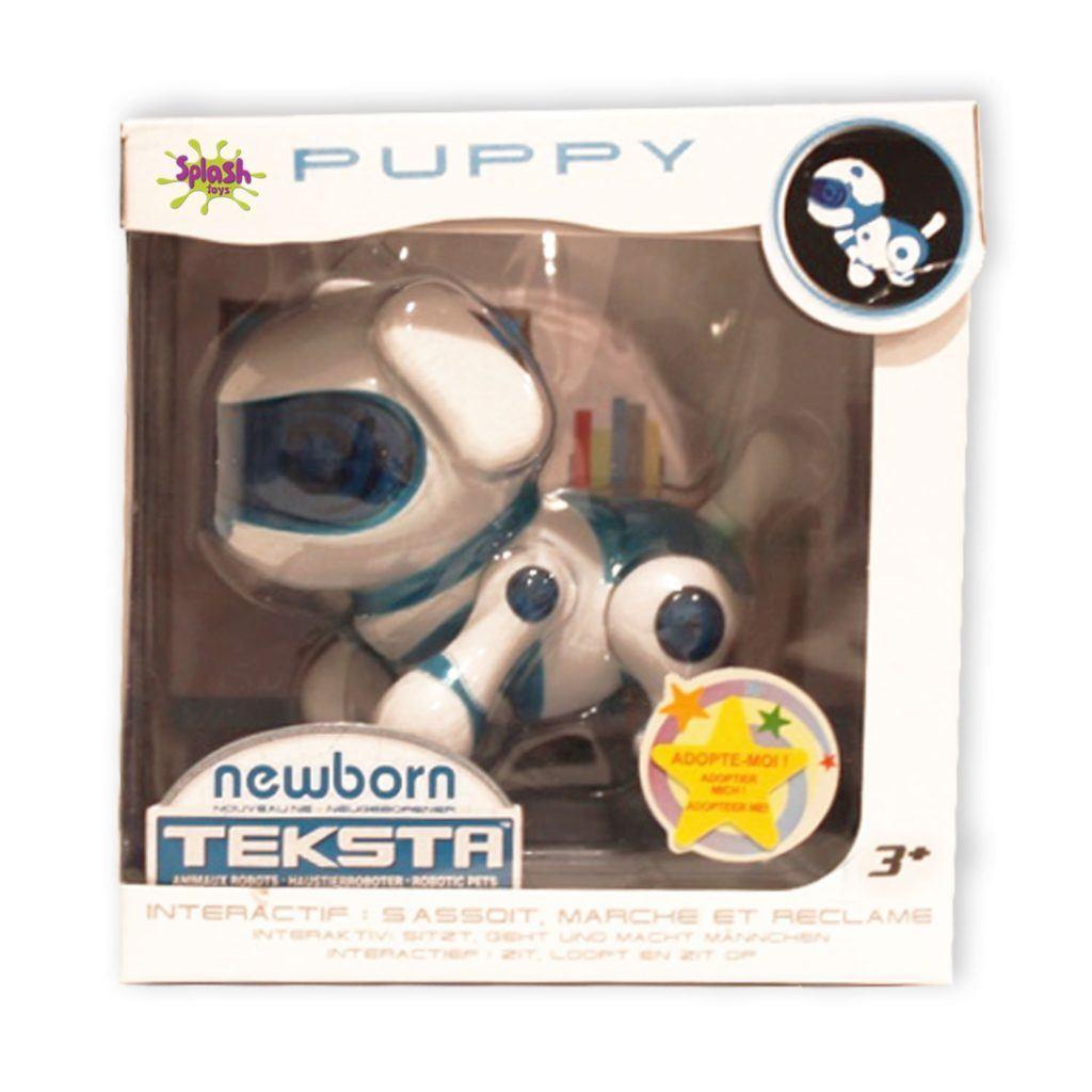 Teksta Newborn 30643P Roboter Haustier Hundewelpe Blau
