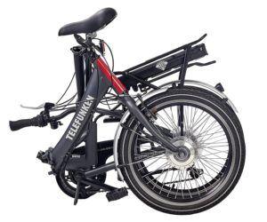 Telefunken E-Bike Klapprad, Elektrofahrrad Alu