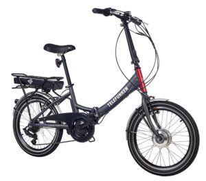 Telefunken E-Bike Klapprad, Elektrofahrrad Alu in grau
