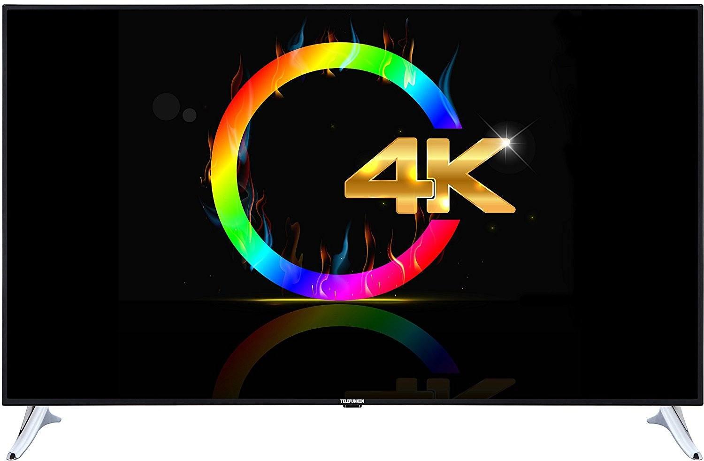 Telefunken XU65A441 165 cm (65 Zoll) Fernseher (4K Ultra HD, Triple Tuner, Passiv 3D, Smart TV) [Energieklasse A+] 4K
