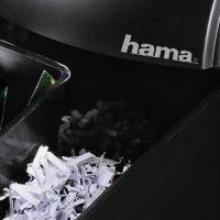 Hama Aktenvernichter mit Papierschnitt in der Nahansicht