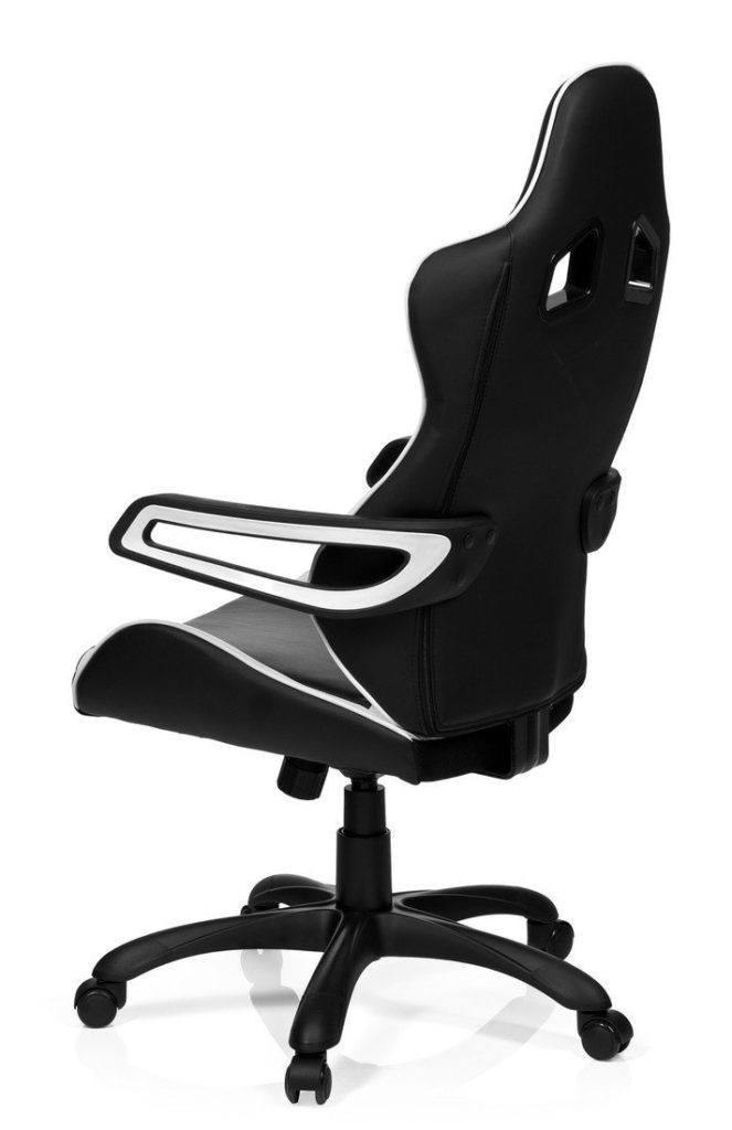 Bürosessel hjh OFFICE 621836 Gaming PC Stuhl RACER PRO schwarz-weiß