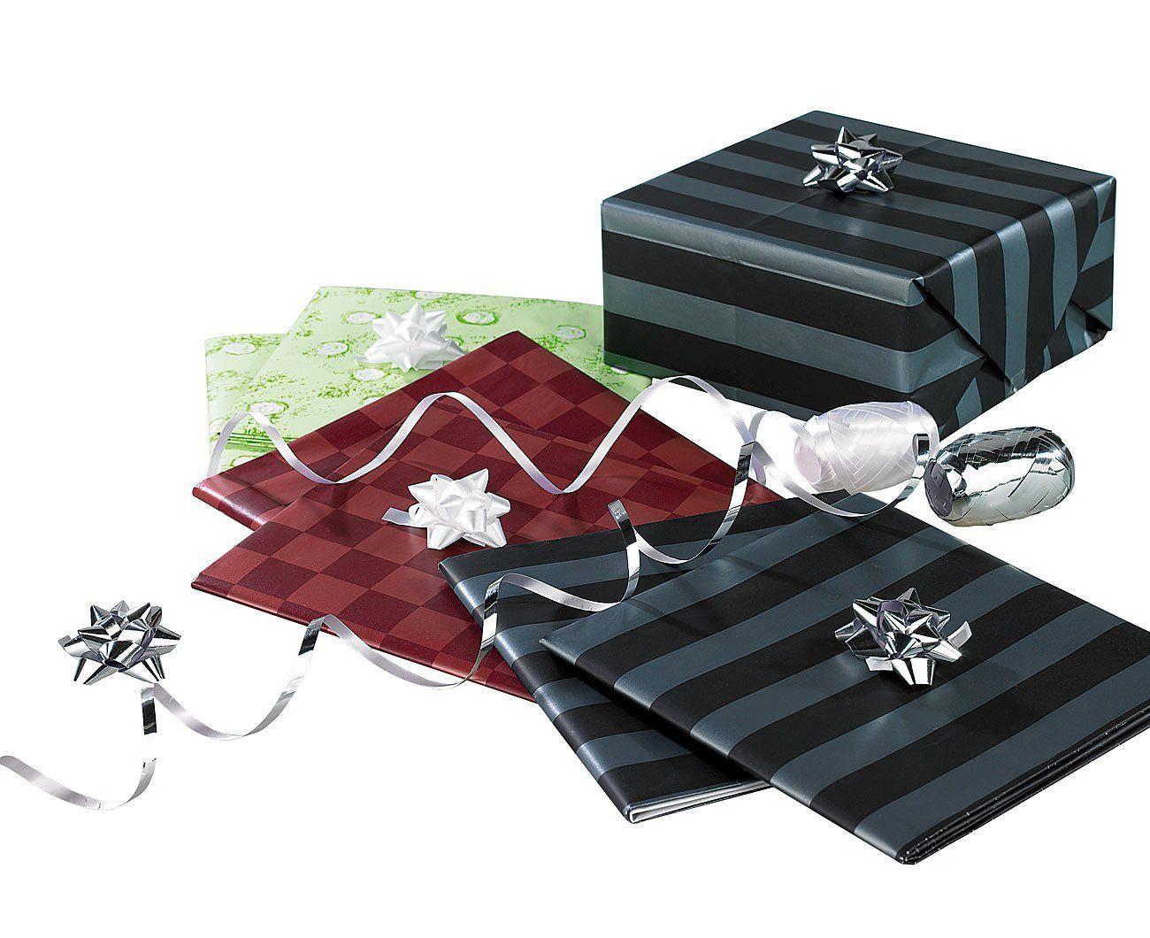 Infactory Geschenkpapier Sets 14 Teiliges Geschenkverpackungs Set Für Jeden Anlass