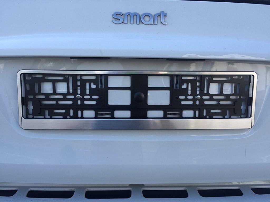 2 X Kennzeichenhalter Nummernschildhalter Chrom Geb%C3%BCrstet Autozubeh%C3%B6r Auto Car. 1