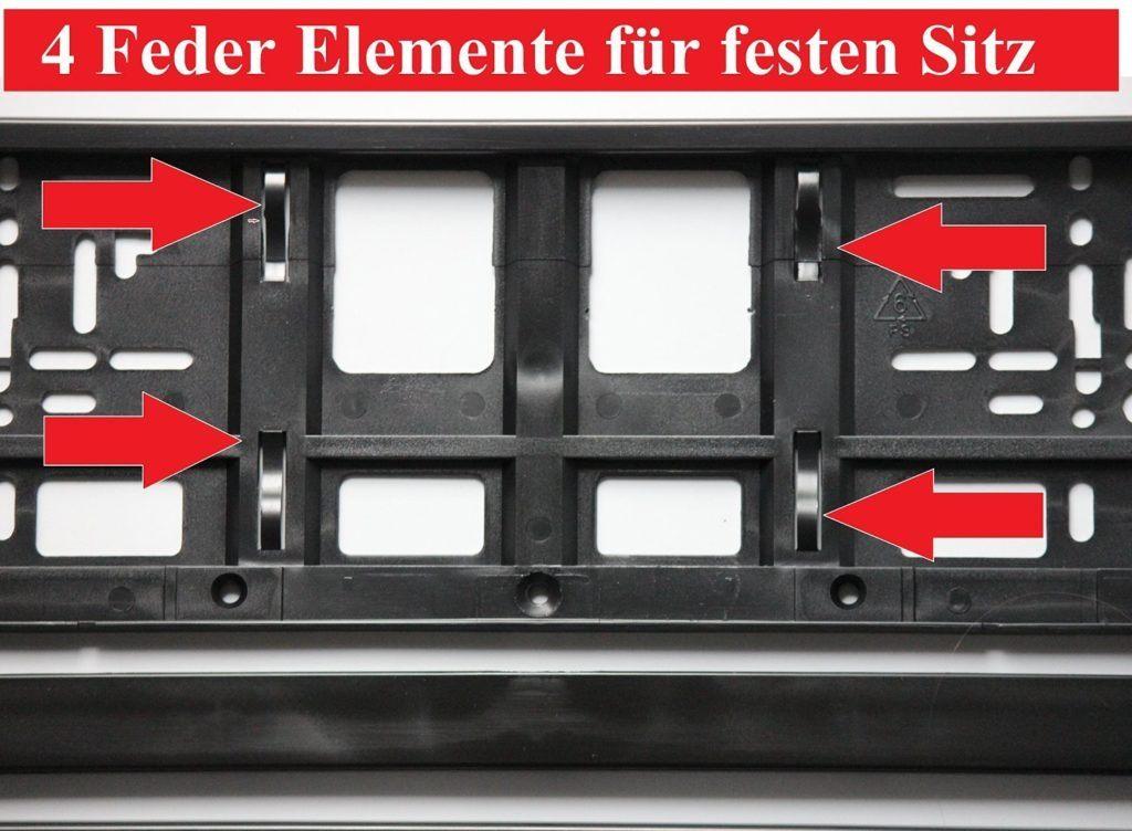 2 X Kennzeichenhalter SCHWARZ Kennzeichenhalterung Im Set Mit 4 Befestigungsschrauben.