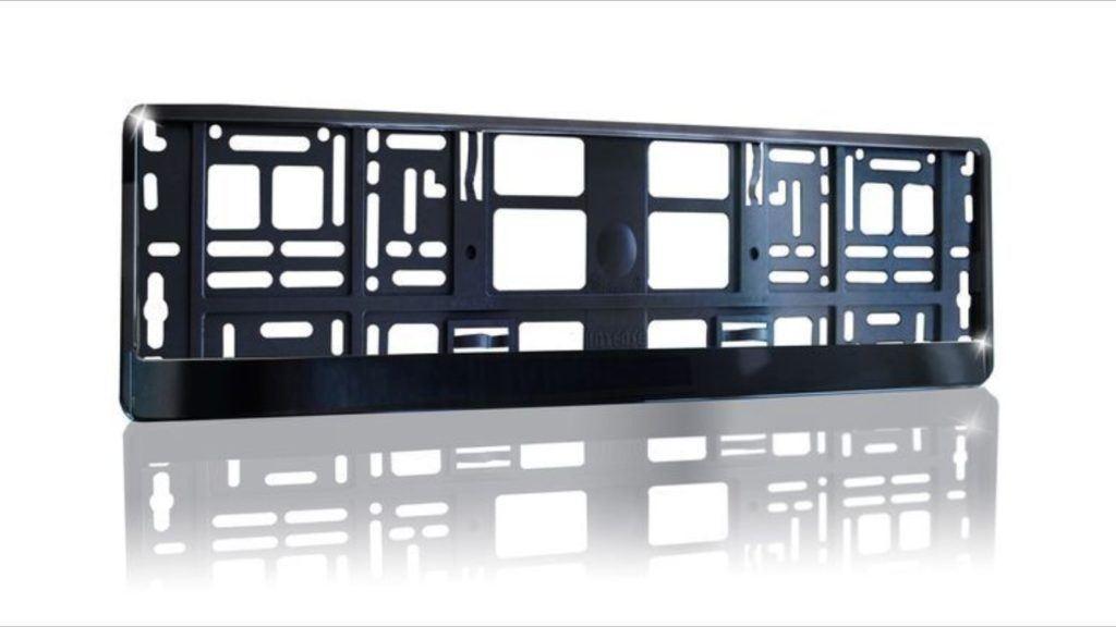 2 X Black Brilliant PKW Kennzeichenhalter