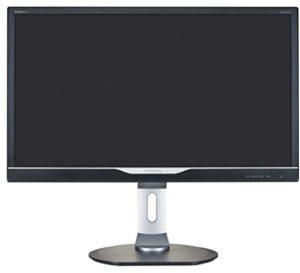 (28 Zoll) Monitor (VGA, DVI, HDMI, DisplayPort, USB-Hub, 3840 x 2160, 60 Hz, 1ms, Pivot, 4K) schwarz