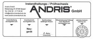 Andris ABC Pulverlöscher