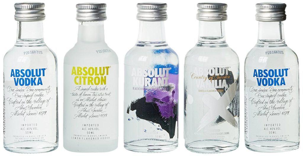 Absolut Five Vodka Miniaturen Set 5 X 0.05 L
