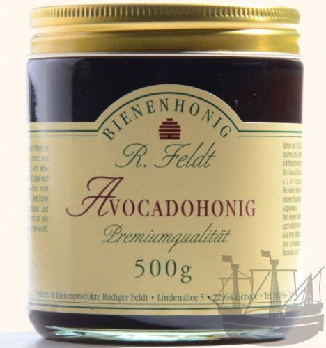 Avocado Honig Dunkel Fl%C3%BCssig Leichtes Pflaumenaroma 500g