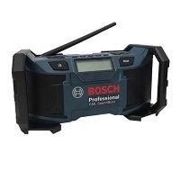 Bosch Professional Akku-Baustellenradio GML SoundBoxx (für 14,4 V-18 V Akkubetrieb, Aux-In (3,5 mm), ohne Akku, Netz-Adapter, Karton) schwarz/blau, 0601429900