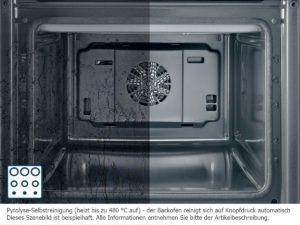 Die Bosch HND72PS50 Backofen-Kochfeld-Kombination hat eine Pyrolyse Selbstreinigung.