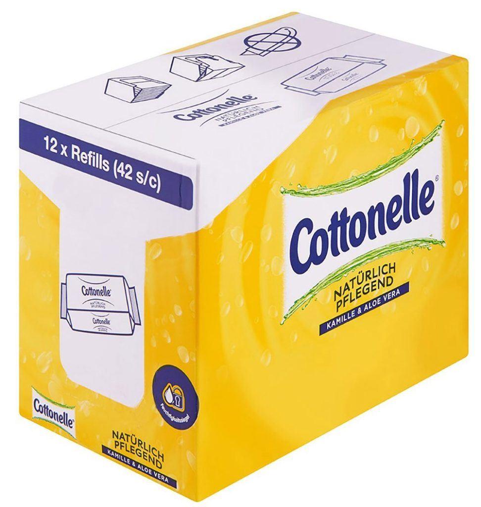 Cottonelle Feuchtes Toilettenpapier Nat%C3%BCrlich Pflegend Nachf%C3%BCllpack12er Pack.