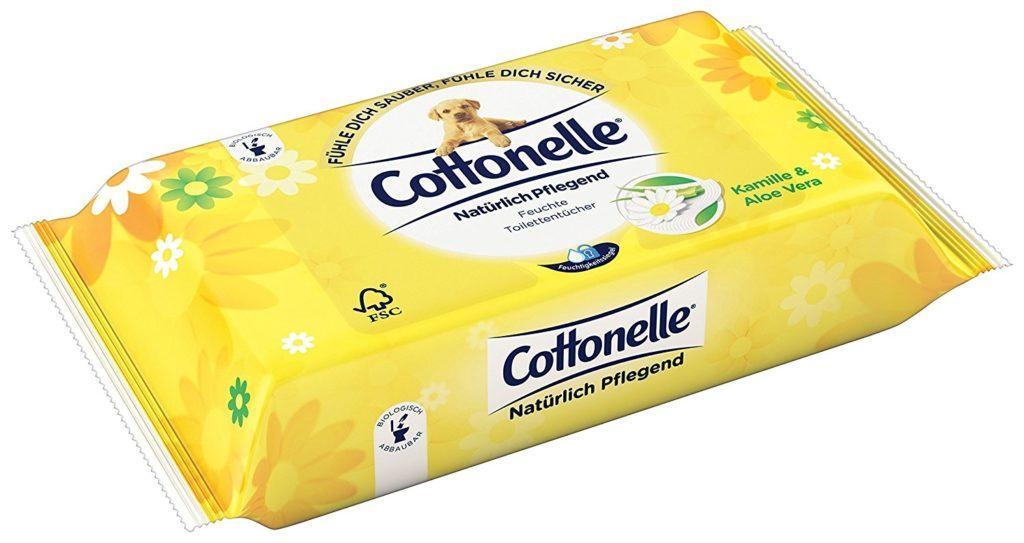 Cottonelle Feuchtes Toilettenpapier Nat%C3%BCrlich Pflegend Nachf%C3%BCllpack12er Pack..
