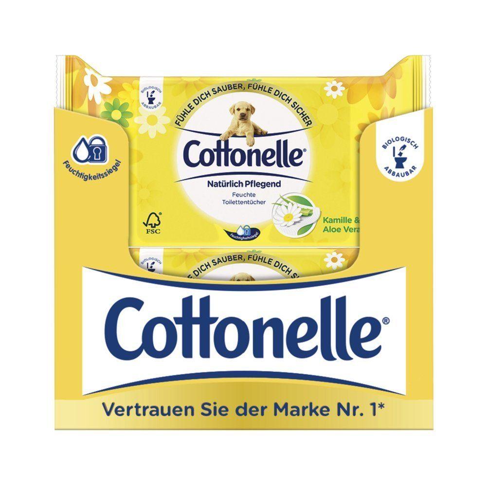 Cottonelle Feuchtes Toilettenpapier Nat%C3%BCrlich Pflegend Nachf%C3%BCllpack12er Pack