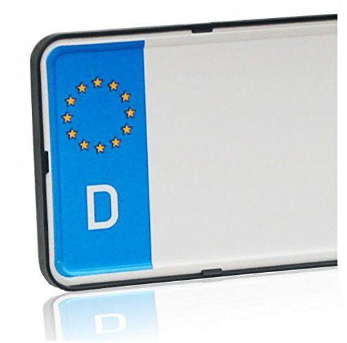 DEZENTOFIX CMS Kennzeichenhalter EU Standard Gr%C3%B6sse 52cm Schwarz Anzahl 2