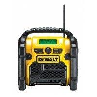 DeWalt Baustellenradio (Akku- oder Netzbetrieb, Strom über alle DeWalt XR Li-Ionen Akkus, 3,5 mm Aux Eingang zum Abspielen externer Geräte,Handy, robustes Gehäuse) DCR019