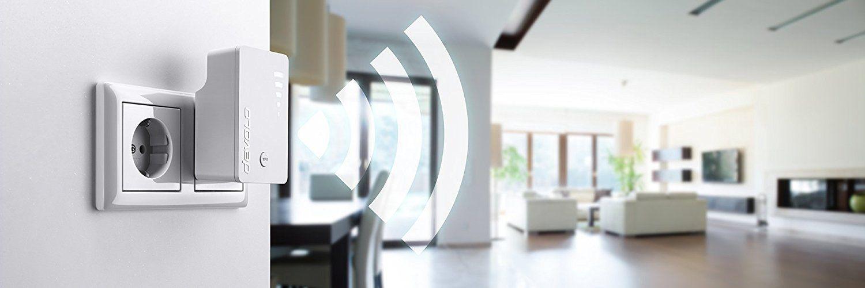 Devolo 1x Gigabit Ethernet LAN Port, WPS, WLAN Repeater und WLAN Verstärker, WiFi Extender, 5 stufige Signalstärkeanzeige, Accesspoint-Funktion, kompaktes Design