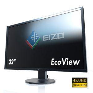 Eizo EV3237-BK 80 cm (31,5 Zoll 4K UHD) Monitor (DVI-D, HDMI, DisplayPort, 5ms Reaktionszeit, Auflösung 3840 x 2160)