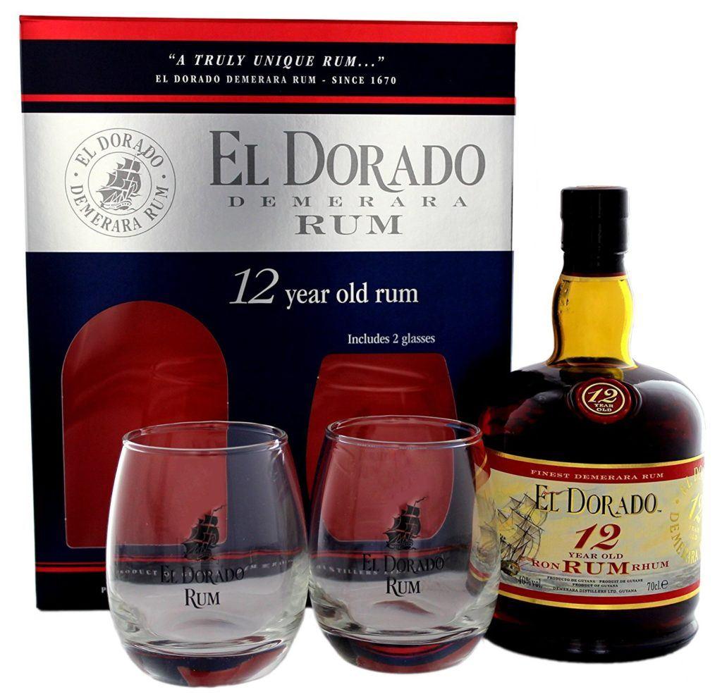 El Dorado 12 Years Old Mit Geschenkverpackung Mit 2 Gl%C3%A4sern Rum 1 X 0.7 L