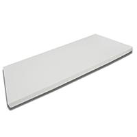 FMP Matratzenmanufaktur 42-0007,viscoelastische Matratzenauflage, Visco-Topper, weiß, 180 x 200 x 8 cm