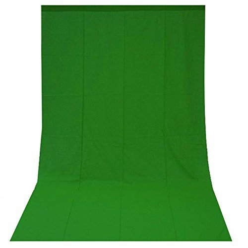 Fotohintergrund Hintergrund F%C3%BCr FotostudioBaumwolle Green Screen Gr%C3%BCn 3x6m 300x600cm
