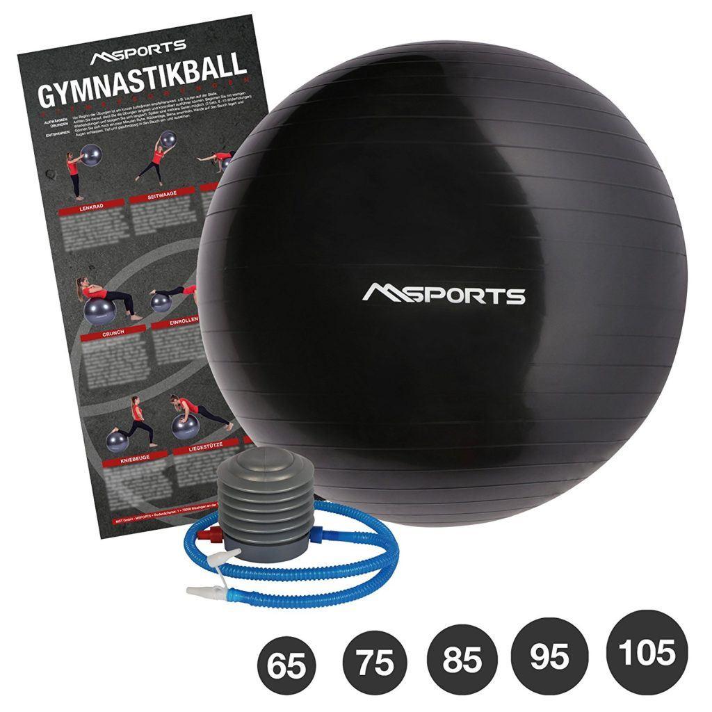 Gymnastikball Inkl. Pumpe 55 Cm 105 Cm Sitzball Fitnessball Inkl. %C3%9Cbungsposter Medizinball