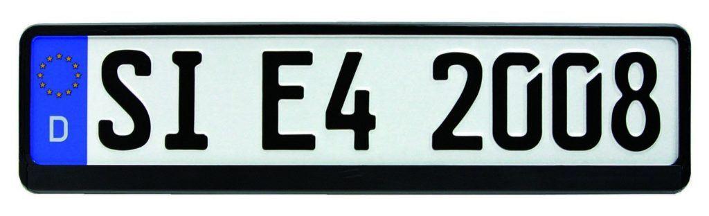 HP Autozubeh%C3%B6r 18508 Kennzeichenhalter SW