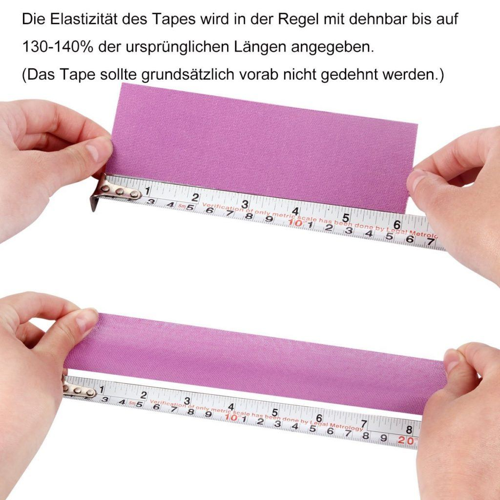 Kinesiologie Tape Tapeverband.