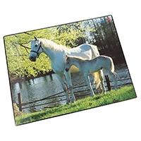 Läufer 46645 Schreibtischunterlage mit Motiv Pferd und Fohlen am See, 40x53 cm, rutschfeste Schreibunterlage für Kinder, mit transparenter Seitentasche
