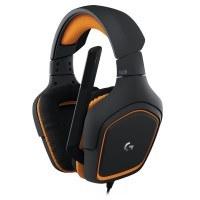 Logitech G231 Gaming-Kopfhörer Prodigy Stereo (mit Mikrofon für PC, Xbox One und PS4) schwarz/orange