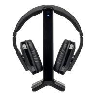MEDION LIFE E69288 (MD 84299) Funkkopfhörer (2,4 GHz Übertragungsfrequenz, 3,5 mm Klinke, Audio Eingang Cinch, Frequenzbereich 20 Hz - 20 kHz) schwarz