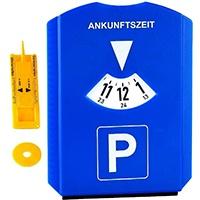 M&H-24 Parkscheibe Parkuhr fürs Auto mit Einkaufswagenchip