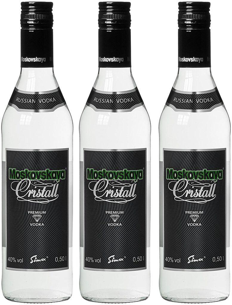 Moskovskaya Cristall Wodka 3 X 0.5 L