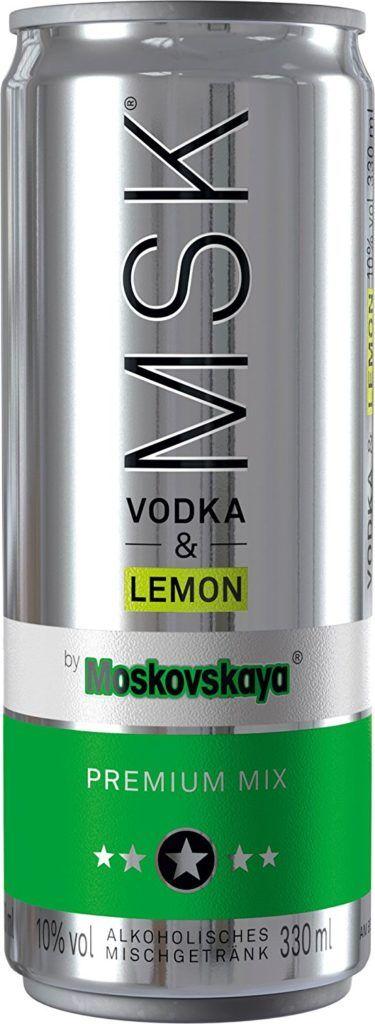Moskovskaya MSK Vodka Lemon DPG Dose 10 Vol. 033l Inkl. Pfand