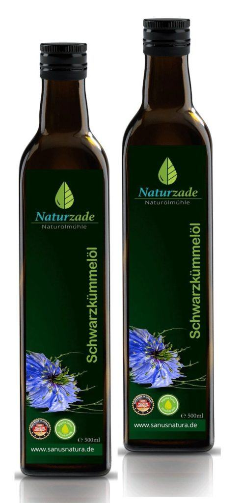 Naturzade Schwarzk%C3%BCmmel%C3%B6l 1000ml Ungefiltert Glasflasche 2 X 500ml