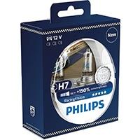 Philips 12972RVS2 RacingVision +150% H7 Scheinwerferlampe, Doppelset