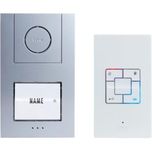 Türsprechanlage Kabelgebunden Komplett-Set m-e modern-electronics Vistus AD 4010 1 Familienhaus Sil