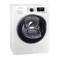 Samsung WW80K6404QW/EG Waschmaschine FL / A+++ / 116 kWh/Jahr / 1400 UpM / 8 kg / Weiß / Add Wash / WiFi Smart Control / Super Speed Wash / Digital Inverter Motor [Energieklasse A+++]