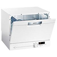 Siemens SK26E221EU iQ300 Geschirrspüler / A+ / 174 kWh/Jahr / 6 MGD / 2240 l/Jahr / Auftischgerät [Energieklasse A+]