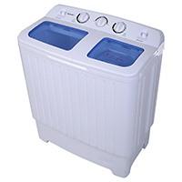 COSTWAY Mini Waschmaschine Waschautomat mit Schleuder Toplader(4,5kg Waschkapazität/300Watt Waschleistung/3kg Schleuderkapazität/110Watt Schleuderleistung) weiß [Energieklasse A+]