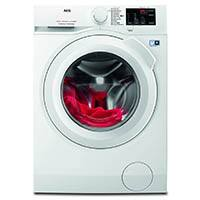 AEG L6FB54470 Waschmaschine Frontlader / leiser Waschautomat mit 7 kg Schontrommel und XXL-Türöffnung / sparsame Waschmaschine mit Mengenautomatik / schonend zu feinen Textilien / Energieklasse A+++ (139 kWh/Jahr) / weiß [Energieklasse A+++]