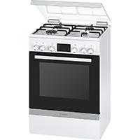 Bosch HGD745220 Serie 4 Backofen-Kochfeld-Kombinationen / Freistehend / A / 66 L / Elektronik-Uhr / weiß [Energieklasse A]