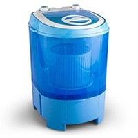 oneConcept SG003 • Mini-Waschmaschine • Camping-Waschmaschine • mit Wäscheschleuder • Toploader • für Singles • Studentenhaushalte • Camper • 2,8 kg Kapazität • 180 Watt Leistung • geräuscharm • geringer Wasser- und Energieverbrauch • blau