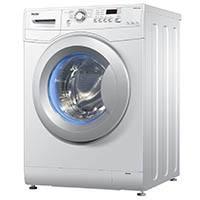 Haier HW70-1479N Waschmaschine FL / A+++ / 170 kWh/Jahr / 1400 UpM / 7 kg / blaue Anti-Bakterielle Türmanschette und Waschmittelschublade / weiß [Energieklasse A+++]