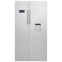 Beko GN 163221 S Side-by-Side / A+ / 182 cm Höhe / 364l Kühlteil / 190l Gefrierteil / Silber / No-Frost / Wasserspender / Multifunktionsdisplay / 0°C Zone / LED Innenbeleuchtung [Energieklasse A+]