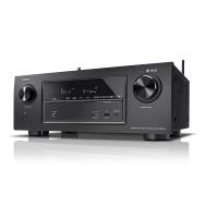 Denon AVRX2400H 7.2 Surround AV-Receiver und HEOS Integration (Dolby Vision Kompatibilität, Dolby Atmos, dtsX, WLAN, Bluetooth, Amazon Music, Spotify Connect, 4K/60Hz 8 HDMI Eingänge, 7x 150 W) schwarz